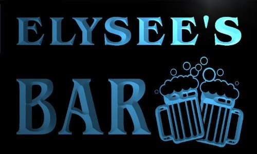 w058584-b ELYSEE Name Home Bar Pub Beer Mugs Cheers Neon Light Sign Barlicht Neonlicht Lichtwerbung -