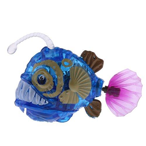 e Schwimmender Laterne Fisch / Hai / Delphin / Seepferdchen - Elektronisches Wasser Spielzeug - Wasserspaß für Kinder - Blaue Laterne Fisch (Schwimmende Hai)