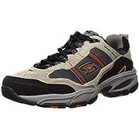 Skechers Sport Men's Vigor 2.0 Trait Memory Foam Sneaker, Taupe/Black, 12 M US