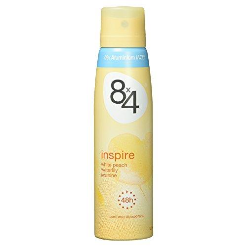 8x4 Deo Inspire Spray weißer Pfirsich, Seerose & Jasmin, 150 ml