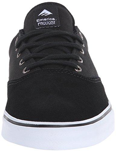 Emerica Provost Slim Vulc, Skateboard homme Noir (Black/White/976)