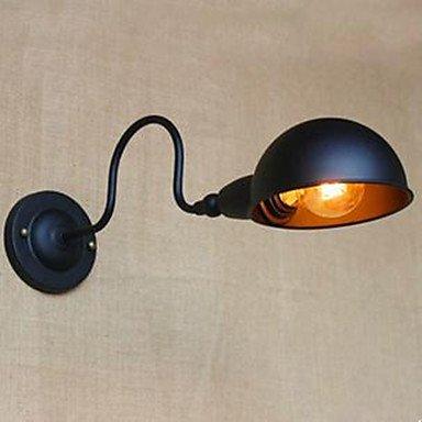 Wandleuchte Wandlampe retro schwarz Studie hochwertige Schlafzimmer Persönlichkeit Bett um dekorative Wand Gang Dreh , 220-240v (Twin-schwarz-holz-bett)