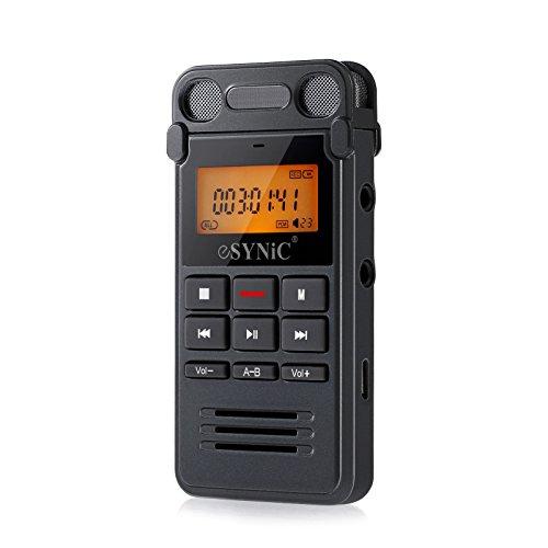 ESYNiC 8GB Grabadora de voz Dictáfono...