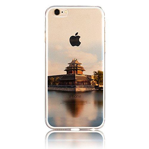 iPhone 7 Hülle, iPhone 7 Schutzhülle, Vandot Handyhülle für iPhone 7 Handytasche (4.7 Zoll) TPU Sillikon Diamant Bling Kristall Transparent Muster Case Cover Glänzend Malerei Durchsichtig Thin Pattern Color 15