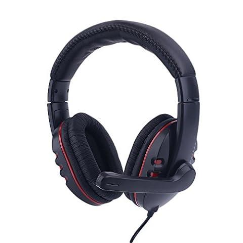 Homgrace Multi-Plattform Gaming Headset USB 3,5mm Kopfhörer 5 in 1 Gaming Kopfhörer mit Mikrofon für PS4 PS3 Xbox360 PC &