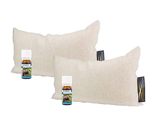 2x Bio-Zirbenkissen (17x29cm) + 2x Bio-Zirbenöl (10ml)