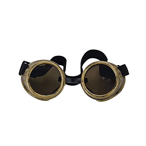 Aofocy Foto Brille Cyber ??Goggles Steam Punk Gossen (Messing Farbe)