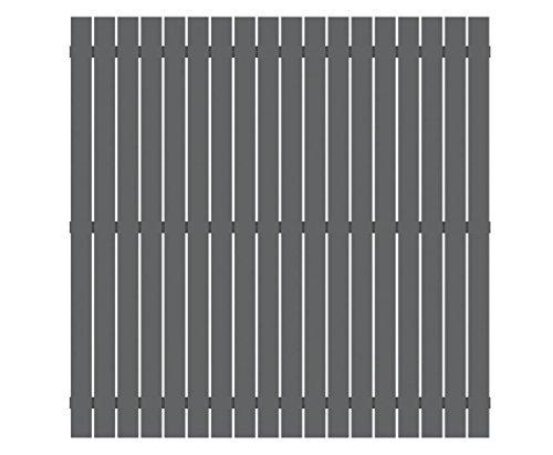 Sichtschutzzaun aus Aluminium 180x180cm beschichtet in anthrazit - Sichtschutzzäune Sichtschutzwand Gartensichtschutz Balkonsichtschutz Winschutz Sichtschutzwand für Garten und Terasse Blichschutz für Balkon Sichtschutzwände Sichtschutzwände, WPC Sichtschutz </p> --> großes Sortiment an Sichtschutz, Bambus, Schilf und Naturprodukte für Garten