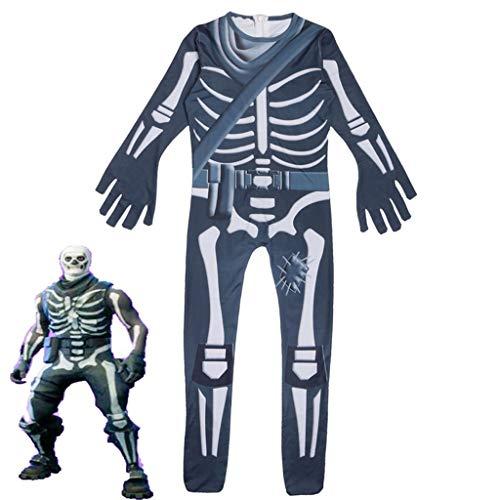 Kind Face Kostüm Ghost - CYLSK Halloween Kinder Show Kostüme Verbunden Cosplay Ghost Face Kleidung Party Style,160