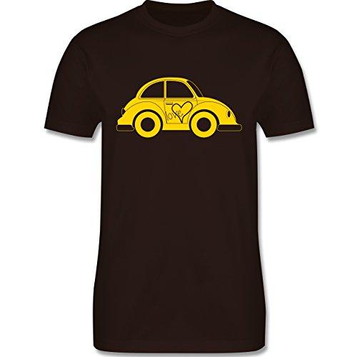Autos - Liebes Beetle Auto - Herren Premium T-Shirt Braun
