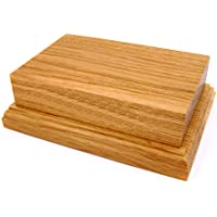 15,2x 10,2cm Display Piedistallo in legno base in legno di quercia, Quercia, Brown, NO PLAQUE