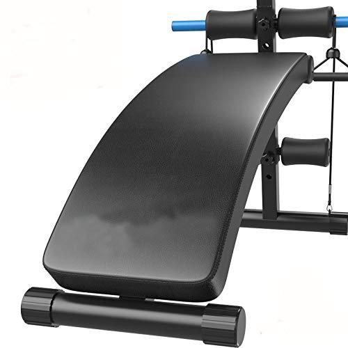 HATHOR-23 Placa para músculos Abdominales, Banco de Pesas Ajustable, Banco de presión de Banco Plegable...