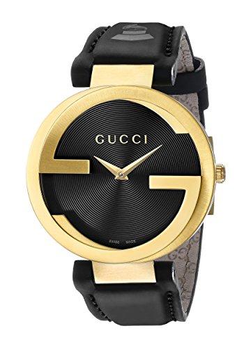 Gucci YA133312 - Reloj de cuarzo para mujer, con correa de cuero, color negro