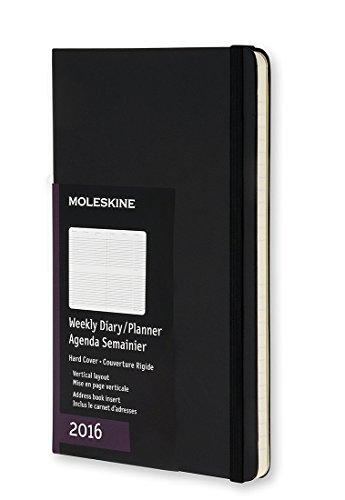 Moleskine 12 Monate Wochenkalender/Taschenkalender 2016, Vertikal, Pocket, A6, Hard Cover, schwarz -