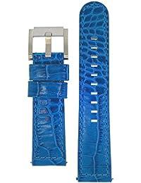 TW Steel Marc Coblen Armband Uhrenband Uhrenarmband Leder 22 MM Kroko Blau LB_BL_K_S