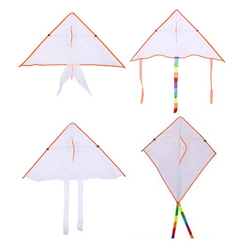 SECVBG Pintura De Bricolaje Cometa Plegable Playa Al Aire Libre Cometa Niños Niños Deportes Juguetes Divertidos Colorido Cometa Voladora