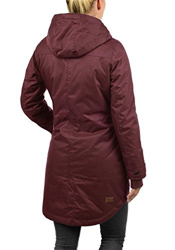 DESIRES Bella Damen Übergangsmantel Parka Jacke Mit Kapuze, Größe:XS, Farbe:Wine Red (0985) - 4