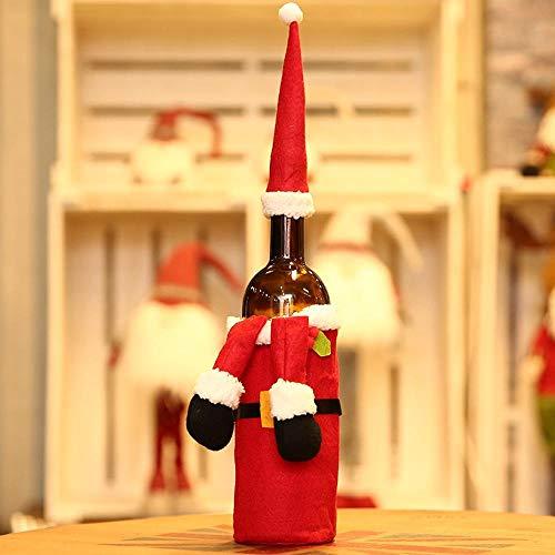 (SPFAZJ Weihnachten Tischdekoration Weihnachten Dekorationen setzen Weinflasche Champagner kreative Wein Set Hotel Restaurant Festliche Wine Bag Set)