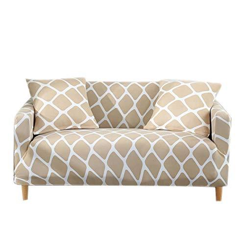 HM&DX Elastisch Sofa Cover schutzhülle,Elastische Polyester Spandex Anti-rutsch Gedruckt Couch-abdeckungen Sicher fit Sofa Throw-L Sessel (Sicher Fit Sessel Schonbezug)