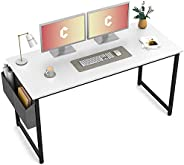 Cubiker Computer Desk Home Office Writing Study Desk, Modern Simple Style Laptop Table with Storage Bag