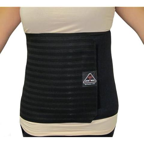 ita-med (I ab-412W Bl Pequeño transpirable Apoyo elástico abdominal Carpeta para las mujeres