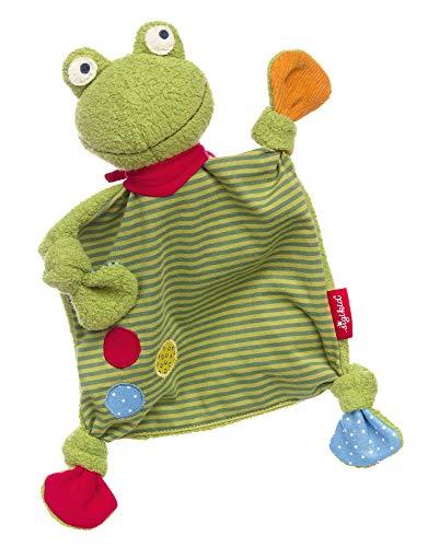 sigikid, Mädchen und Jungen, Schnuffeltuch, Flecken Frog, Patchwork Sweety, Grün, 39148 -