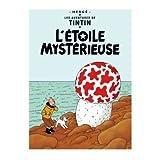 Poster Moulinsart Album de Tintin: L'étoile mystérieuse 22090 (70x50cm)...