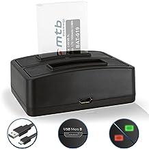 Cargador doble (USB) para Canon NB-5L / Ixus 90 IS, 800 IS, SD990 IS...Powershot SX200 IS, SX210 IS, SX220 HS, SX230 HS … - ver lista de compatibilidad