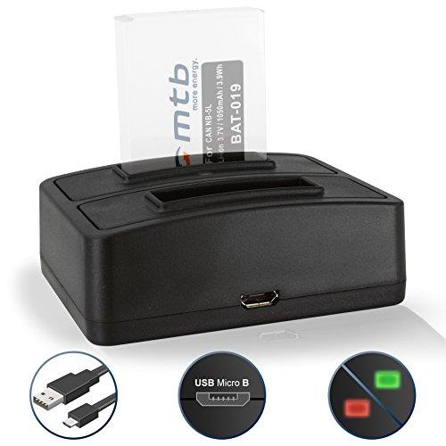 Dual-Ladegerät (USB) für Canon NB-5L / Ixus 90 IS, 800 IS, SD990 IS...Powershot SX200 IS, SX210 IS, SX220 HS, SX230 HS … - s. Liste