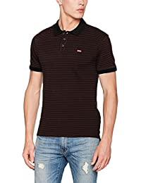 Levi's Housemark Polo, T-Shirt Homme, Noir (Pluck Stripe Puce/Black Beauty 59), XX-Large (Taille Fabricant: XXL-)