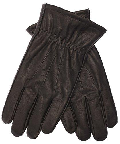 Klassischer Herrenhandschuh COWBOY aus 100% Rindsleder mit Thinsulate Futter, schwarz, Größe M