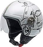 NZI Zeta Grafik Offenes Gesicht Motorradhelm, Glanz W-Vespa Turia, Größe S