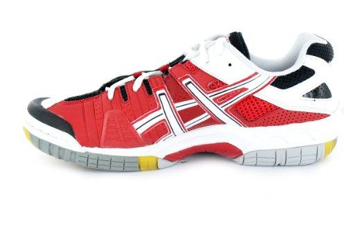 Asics Gel sensei 3 B901Y0121, Handball Homme Blanc, noir, rouge et argent