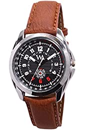 Watch Me Black Dial Brown Leather Strap Watch For Men And Boys AWC-012 AWC-012omt