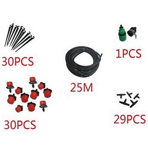25m DIY Micro Drip Bewässerungssystem Garten Micro Spray passend für Landschaft Bewässerungszubehör Sprinkler Bewässerung Gerät ^