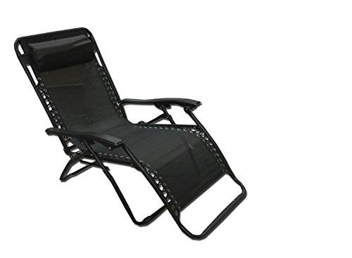 Welt berühmten Sports Jumbo Zero Gravity Lounge Stuhl, schwarz -