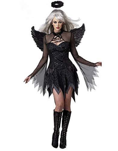 GHLLSAL Weiß Schwarz Teufel Gefallenen Engel Kostüm Frauen -