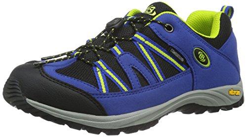 EB kids OHIO LOW, Jungen Trekking- & Wanderhalbschuhe, Blau (Blau/schwarz/lemon), 37 EU (3.5 Kinder UK)