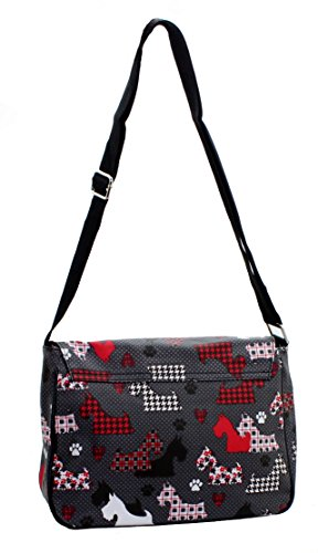 Lilly & Jane, Borsa Donna Tornis Nero / Cani Stampa