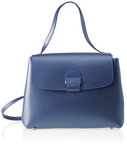 Chicca Borse 8838, Borsa a Spalla Donna, 34x24x13 cm (W x H x L) Blu (Blue)