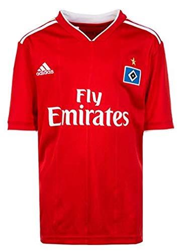 adidas Jungen Hamburger SV Away Kurzarm Trikot, Scarlet/White, 152
