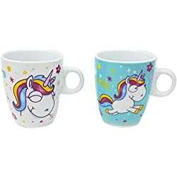 Bolsa de deporte Com-Four® con diseño de unicornio mágico, plástico, 02 Stück - Tasse Mix1