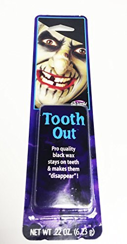 h Black Out Witch Halloween Pirate Bad Teeth Paint Putty by Bristol Novelties (Black Tooth Wax Halloween)