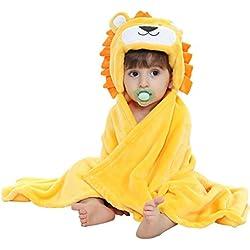 Vine Manta para niños mantita-arrullo con capucha diseño de animal para bebé