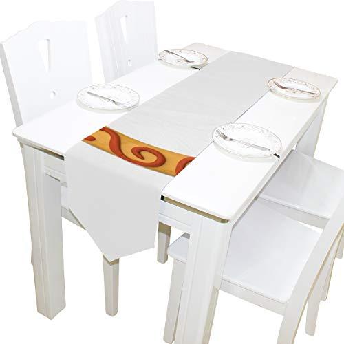 ef C Bunte Kommode Schal Tuch Abdeckung Tischläufer Tischdecke Tischset Küche Esszimmer Wohnzimmer Hause Hochzeitsbankett Decor Indoor 13x90 Zoll ()