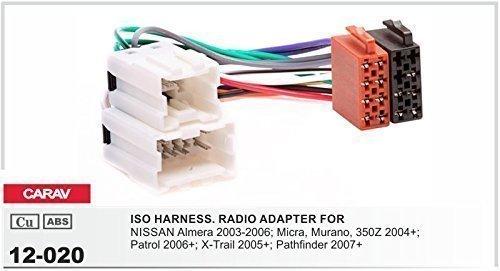 CARAV 12-020 Autoradio ISO Adapterkabel für NISSAN Almera Micra Murano Patrol X-Trail Pathfinder
