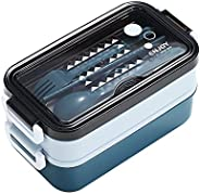 Leakproof Lunch Box 2021 New Model Lunch Containers for Women Kids Office and Outdoor Picnic Reusable Cutlery