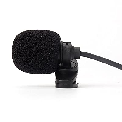 NAVISKAUTO Mini Microphone Music Recording Interview Tied Clip Mic for iPhone Android Smartphone Laptop Notebook Car Stereo