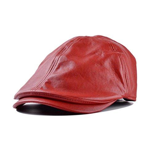 ❤️Amlaiworld Gorra de cuero Vintage Beret de Hombre mujer Sombrero plano  Niños niñas Viseras Unisex 41584fe5f9a
