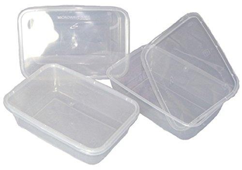 100-klar-Kunststoff-650-ml-MikrowelleGefrierschrank-Sichere-Lebensmittel-Container-Gre-170-x-120-x-45-mm-650-cc-verwendbar-Liquid-Takeaway-Aufbewahrungsboxen-Deckel